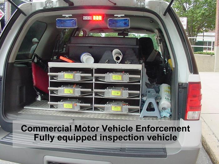 Commercial Motor Vehicle Enforcement Fully Equipped Inspection Vehicle