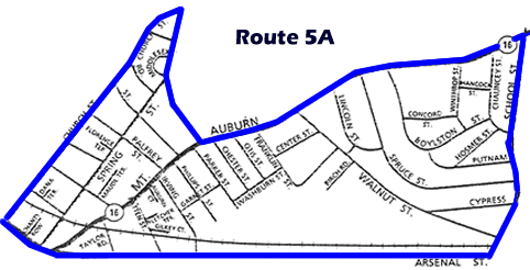 Route 5A Map
