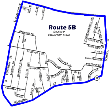 Route 5B Map